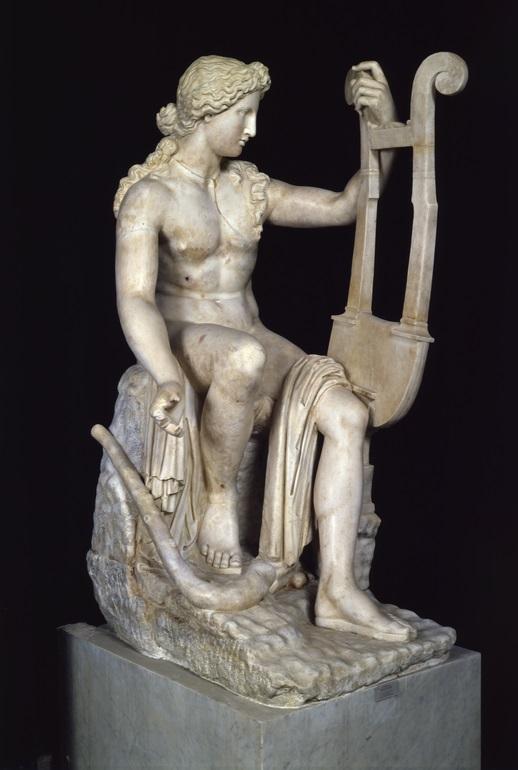 Statue of Apollo with cithara