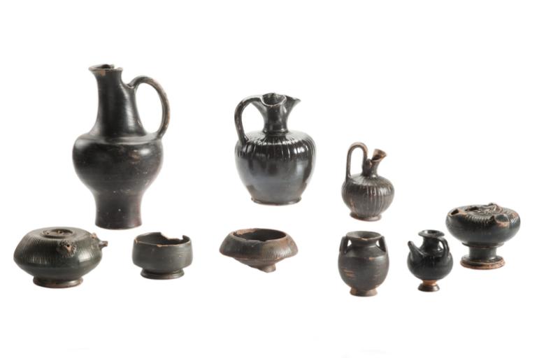 Black glazed pottery