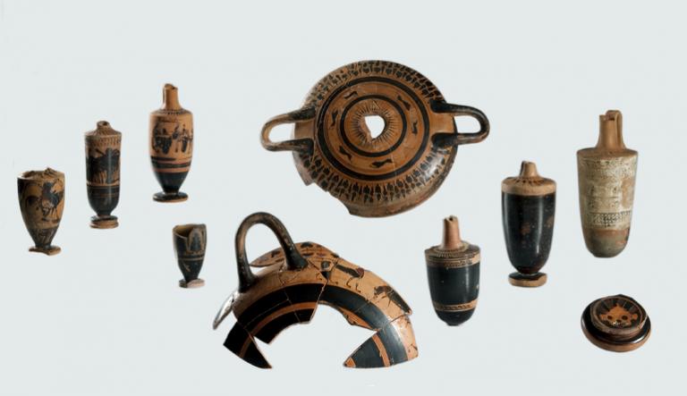 Black-figured pottery