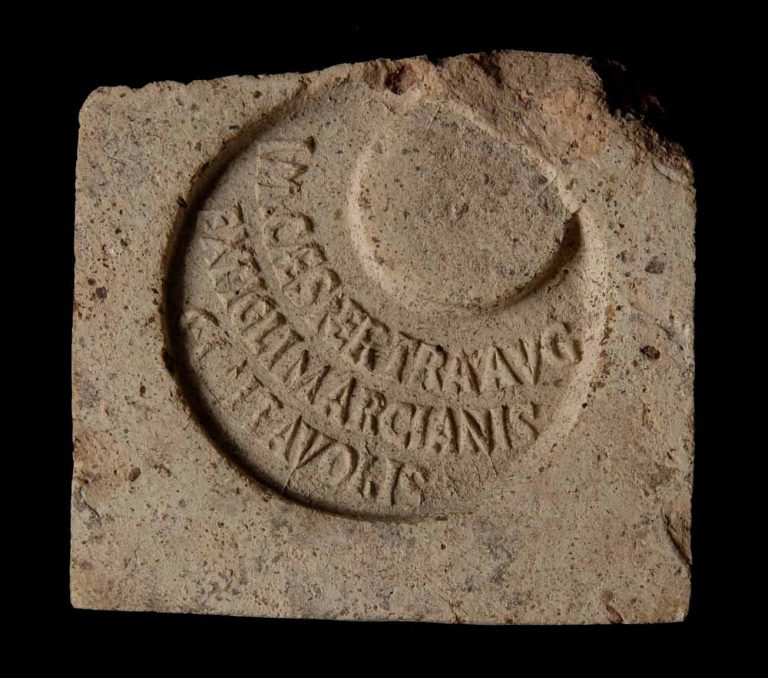 Brick bearing the mark of Trajan