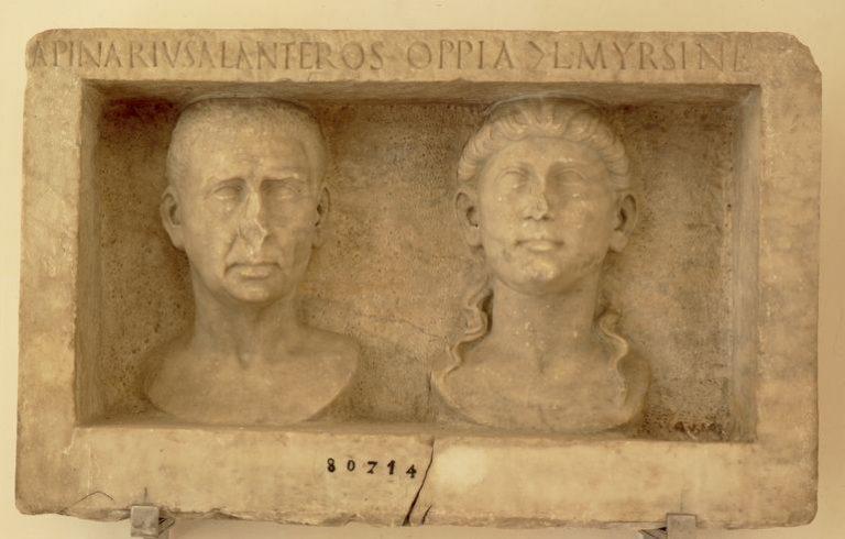 Rilievo funerario di Anteros e Myrsine