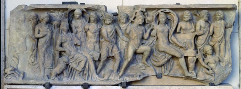 Sarcofago con scene mitologiche di Marte e Venere