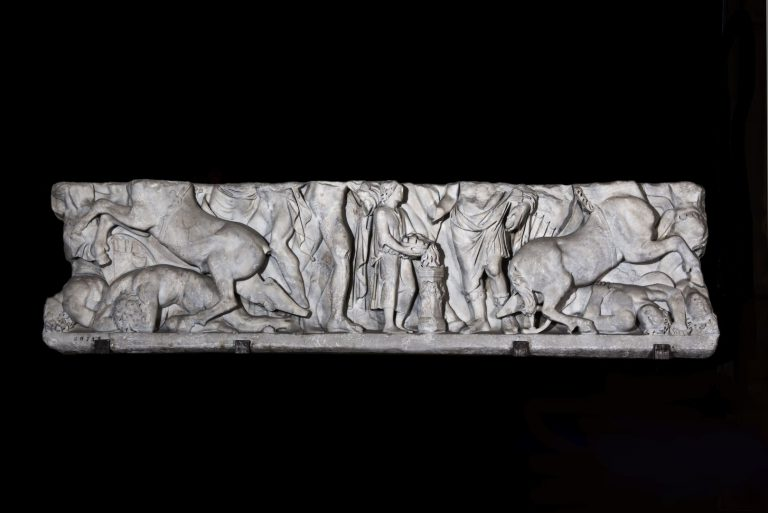 Sarcophagus depicting the legend of the founding of Rome