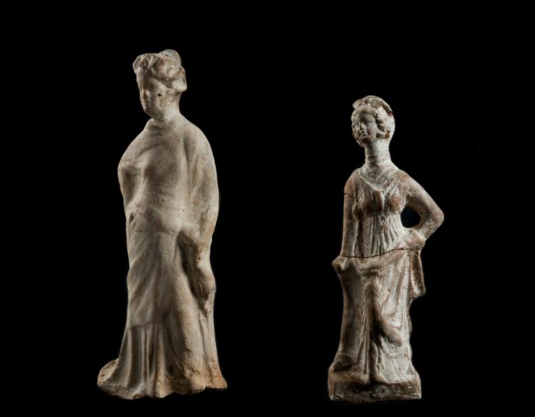 Terracotta statuette (Tanagrine)