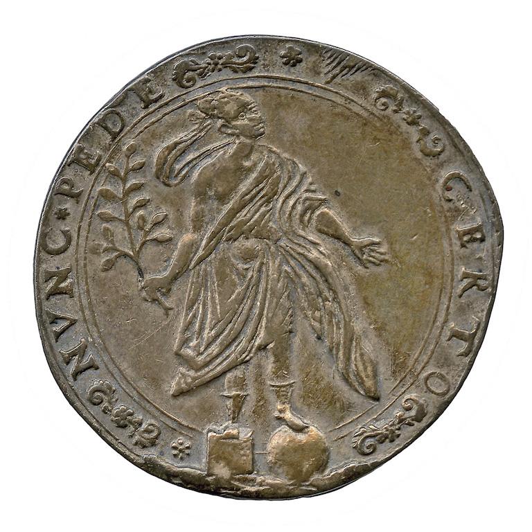 Ducato della Mirandola. Ducatone in argento di Alessandro I Pico con raffigurazione della Fortuna (rovescio), 1617